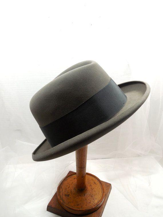 Men's Vintage Homburg Hat... 194050s Homburg Hat  by Beadgarden55, $75.00
