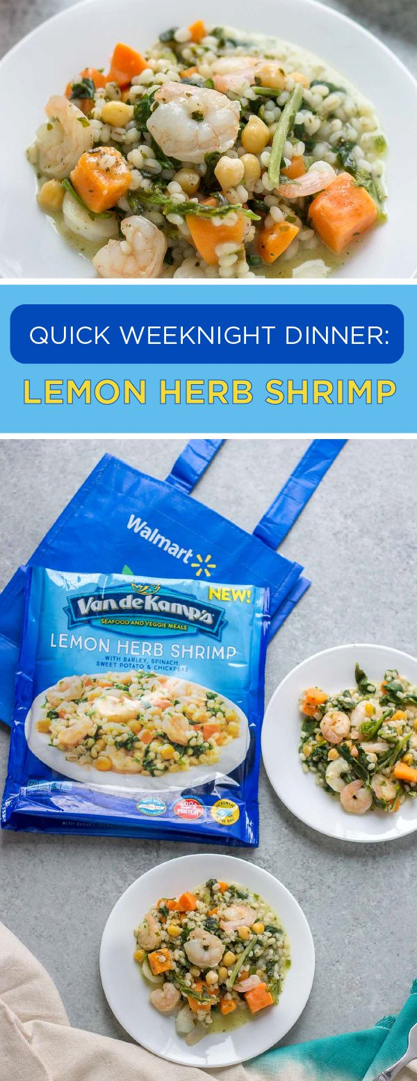 Easy recipes filled with healthy ingredients and delicious flavor? Easier said than done. Well, that was before Van de Kamp's® Seafood and Veggie Meals! If you're looking for a quick weeknight dinner idea, the Lemon Herb Shrimp with Barley, Spinach, Sweet Potatoes, and Chickpeas is a must. And with other tasty varieties at Walmart, stocking up on better-for-you dishes from Van de Kamp's® couldn't be simpler!