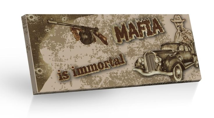 Retro Choco Cars Mafia - extra hořká čokoláda 72% 100g