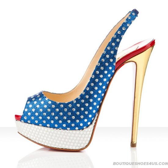 Glamorous Christian Louboutin Miss America 150mm Slingbacks | Christian Louboutin Shoes 2012 Collection