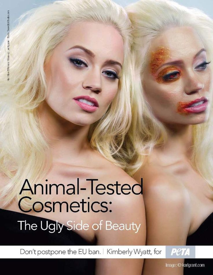 Don't buy products tested on animals.. Kimberly Wyatt for PETA