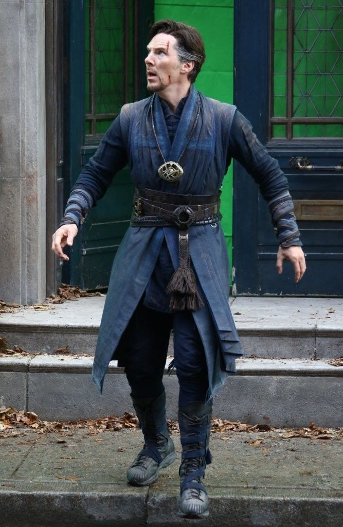 Here we have another great batch of Doctor Strange set pics featuring the Sorcerer Supreme getting more action alongside Baron Mordo, and by himself as he ditches the Cloak of Levitation