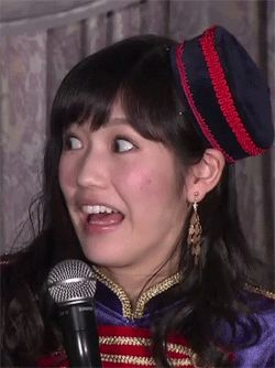 ☆- Mayu Watanabe from AKB48 -☆ animated gif! ♪ please click to see the animation. . .♫♪ ☆ scared and shocked face, funny reaction image gif