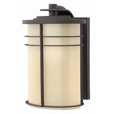 Ledgewood Outdoor Wall Lantern in Vintage Black Energy Saving: Yes by Hinkley Lighting. $205.00. 1124VK-ES Energy Saving: Yes Features: -Outdoor wall lantern.-Energy saving optional.-Top to outlet: 6.75''. Includes: -Energy Saving version requires one 18w compact fluorescent bulb (included). Color/Finish: -Vintage black finish with opal cased glass shade. Specifications: -Standard version requires one 75w Medium base bulb (not included). Dimensions: -Overall dimensions: ...