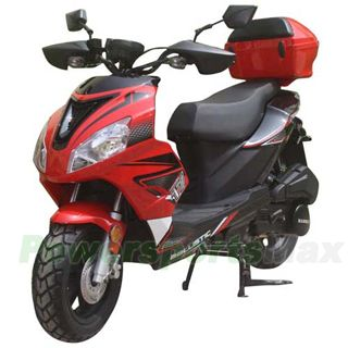 """MC-D58 150cc Moped Scooter with Sports Style, 12"""" Wheels, Electric/kick Start! Rear Trunk! Fully Assembled!"""