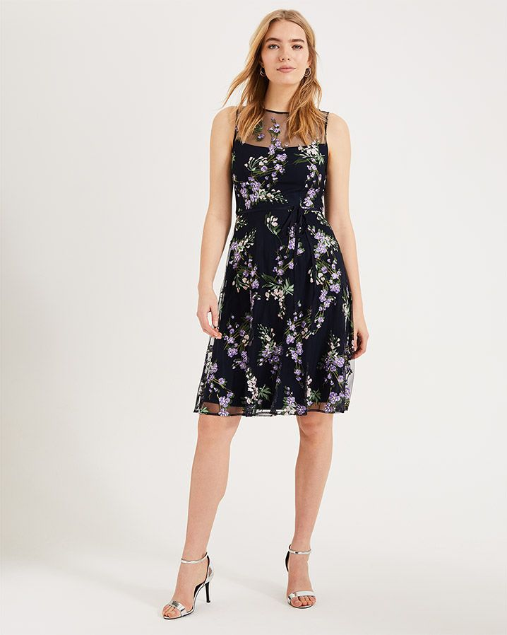9fb69a429db133 Lia Embroidered Dress | Navy/Lilac | Phase Eight | Fashion summer 19 ...