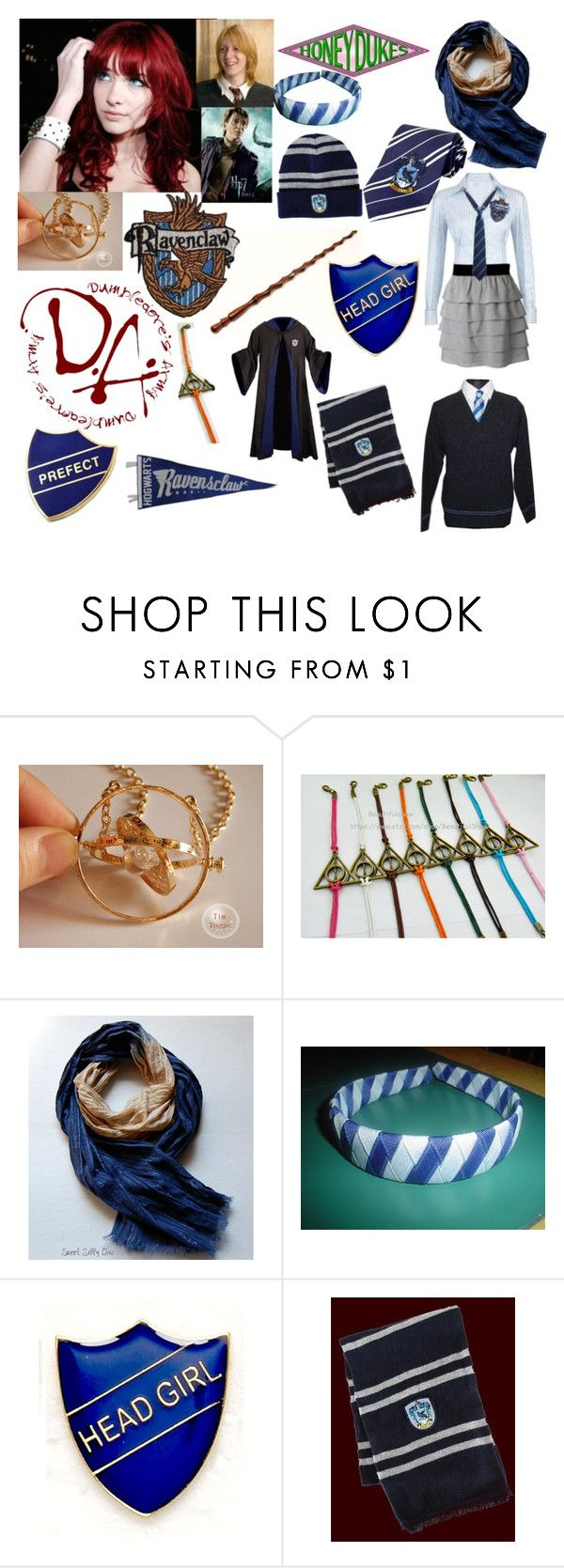 """""""Ravenclaw"""" by zayne-jinxie ❤ liked on Polyvore featuring George"""