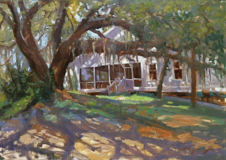 """Southern Mystique"" 21"" x 30"" Available Old Southern home in Florida's Forgotten Coast"