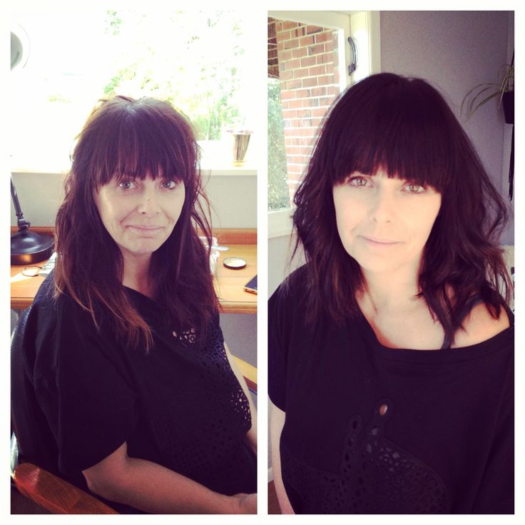 Luscious makeover into a brunette lob