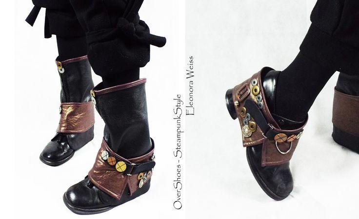 Steampunk Style Copriscarpe due pezzi