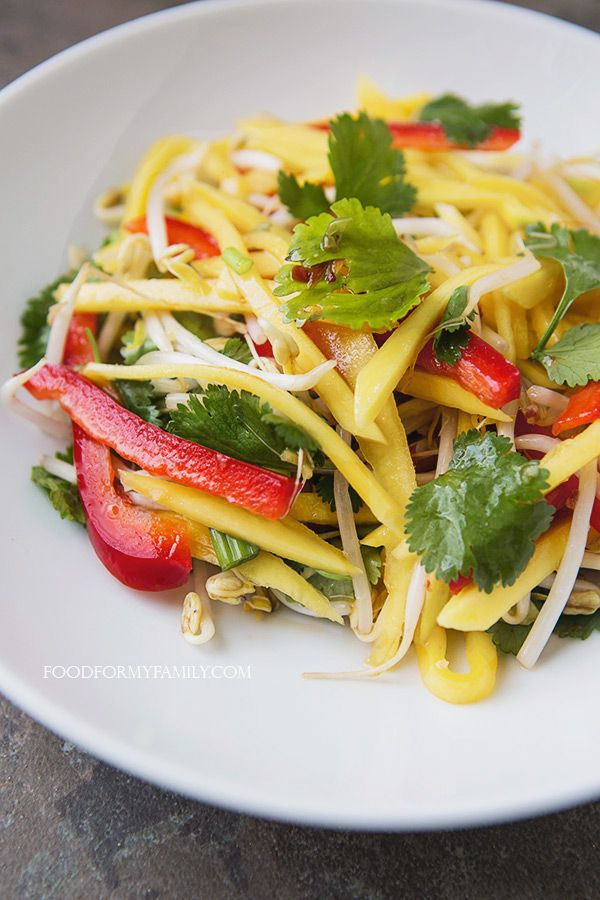 Thai Green Mango Salad #recipe via FoodforMyFamily.com