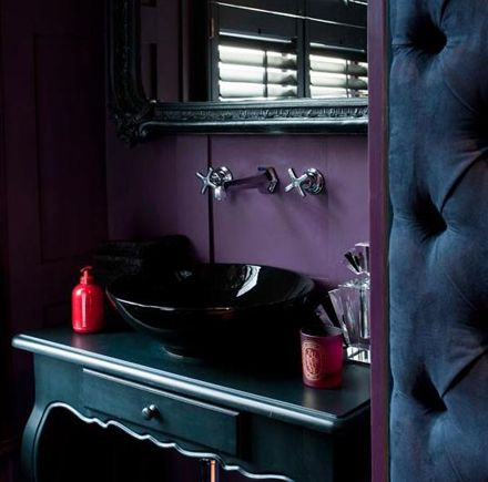 Cloakroom painted in Pelt by Farrow and Ball