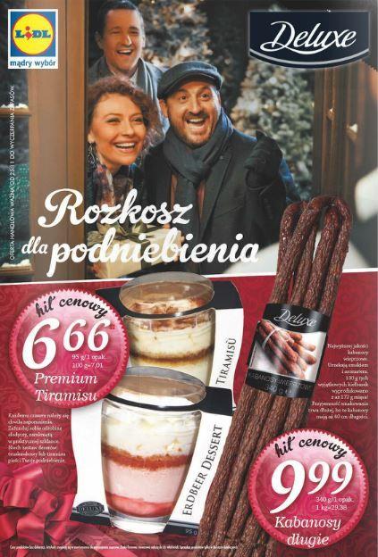Lidl nie ustaje w rozpieszczaniu nas smakołykami firmy Deluxe, a to dopiero wierzchołek góry lodowej. W nowej gazetce każdy znajdzie coś dla siebie oraz bliskich. http://www.promocyjni.pl/gazetki/12066-rozkosz-dla-podniebienia-gazetka-promocyjna