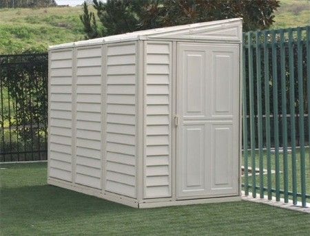 Duramax SideMate 4x8 Vinyl Storage Shed (w/ Foundation Kit) #StorageShedsOutlet