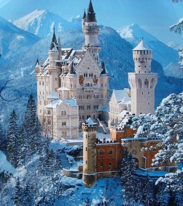 Les plus beaux châteaux: Le château de Neuschwanstein en Allemagne