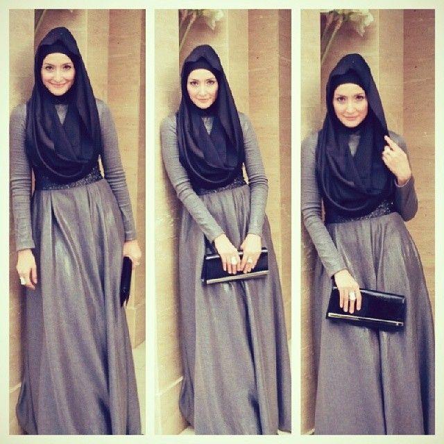 .@Norma Johnson Moi | Inneke Koesherawaty in #hauriblacklabel #hauriscarf Greyscale series | Webstagram