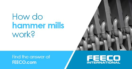 Hammer mills are a type of size reduction equipment, used to break down oversized granular materials. Breaking down oversize material helps to reach ideal particle size distribution for feedstock. #hammermills #equipment #manufacturing #FEECO