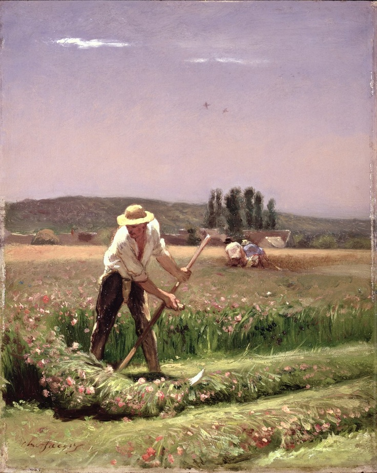 A peasant, mowing (19th century)  Charles Emile Jacques. © Bridgeman Art Library / © The Bowes Museum, Barnard Castle, County Durham, UK