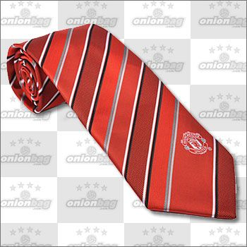 Manchester United Striped Tie