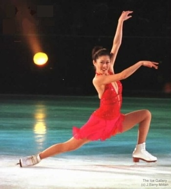 Kristi Yamaguchi -- met her at Bank of Hawaii's Marketing Dept. when she was making a BOH tv commercial.  Although raised in California, Kristi has performed in many ice skating shows in Hawaii.