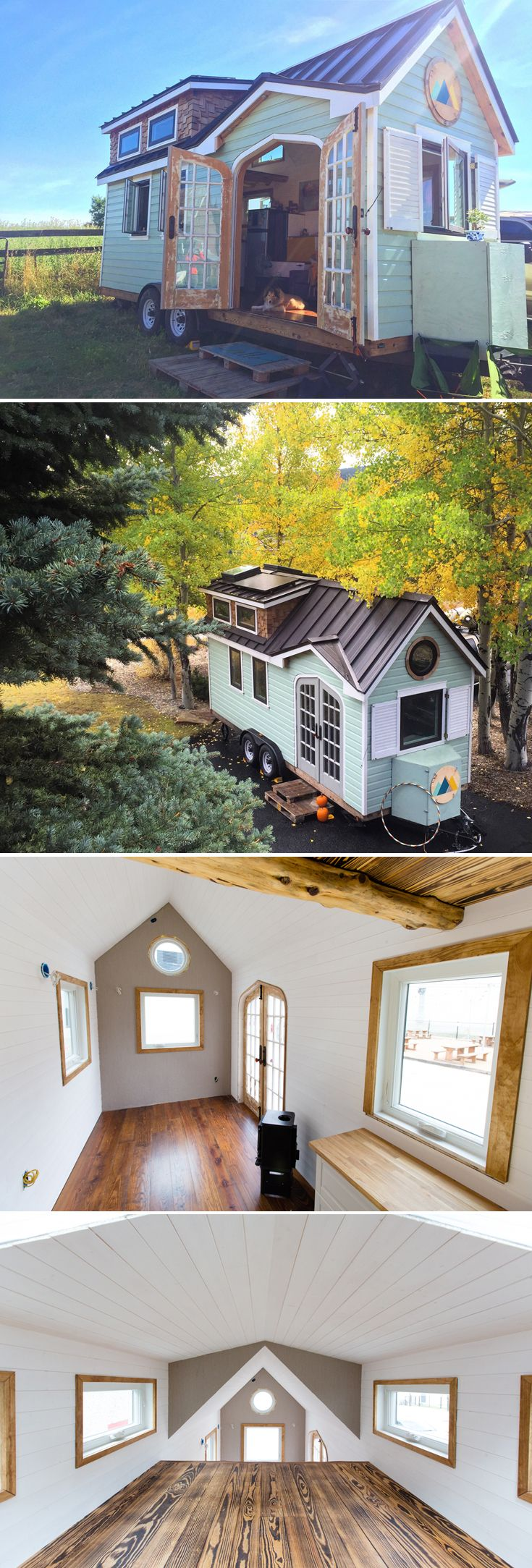 Randi and Cody Hennigan built their tiny house, nicknamed the Best Little House in Texas, as a DIY project so they could live more sustainably.