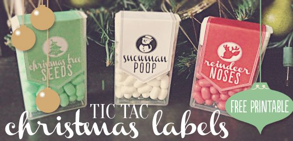 Tic Tac Christmas Labels // Free Printable