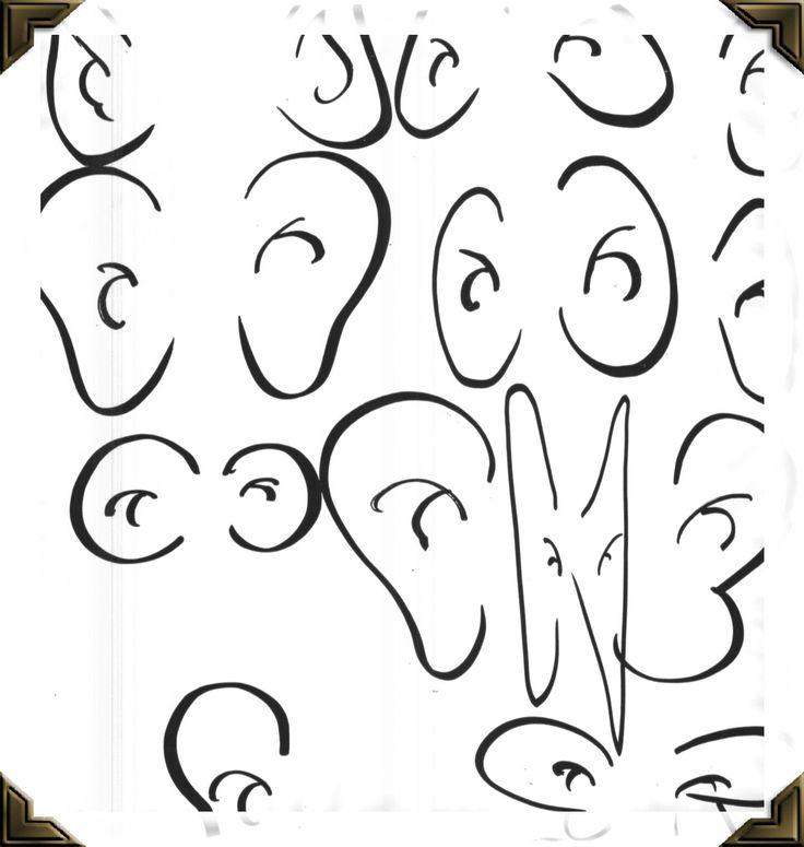 cartoon ears | Ears Learn: To draw and add ears to caricature drawings.