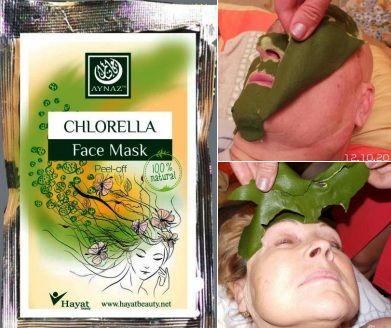 Косметическая маска для лица из микроводоросли хлорелла