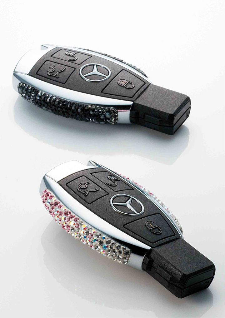Limited Edition Hand Crafted Swarovski Mercedes Keys I think I died and went to heaven