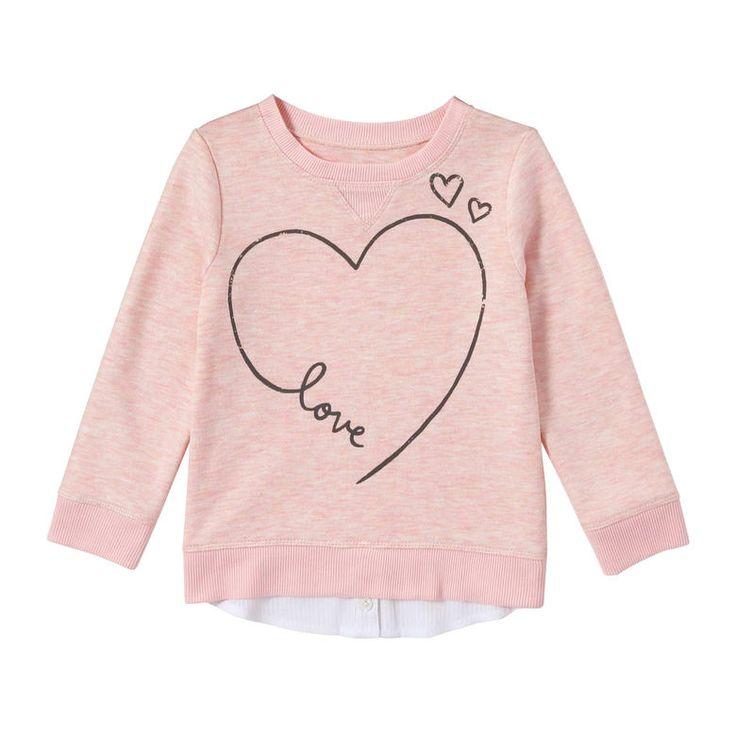 Toddler Girls' Fooler Sweatshirt in Pink Mix from Joe Fresh