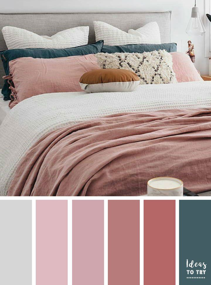 Mauve and teal color inspiration,color palette inspired by bedroom, teal and mauve bed set,mauve and teal color schemes