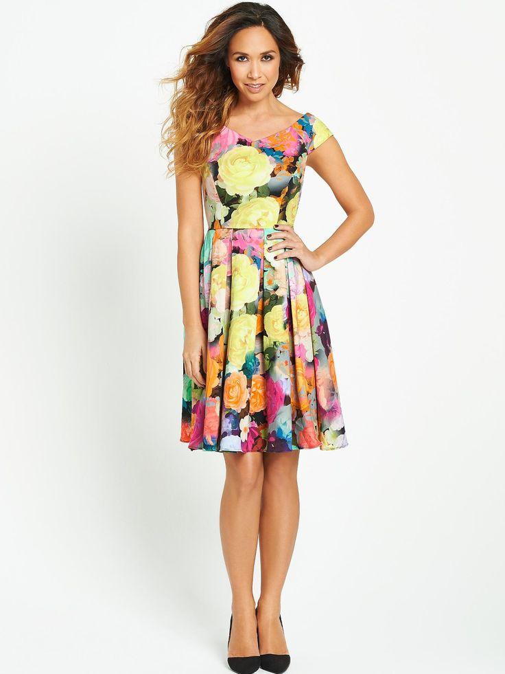 Myleene Klass Floral Print 50s Dress littlewoods.com