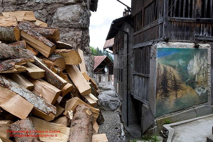 "Photowalking tour dolomiti: Cibiana di Cadore - Veneto - Italy. The country of the ""Murales"""