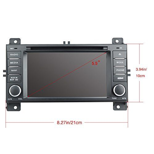 Rupse For 2011 2012 2013 Jeep Grand Cherokee Car DVD DVD Player With BT/Ipop/SD/Handsfree Navigation System (OEM Factory Style,Free Maps)