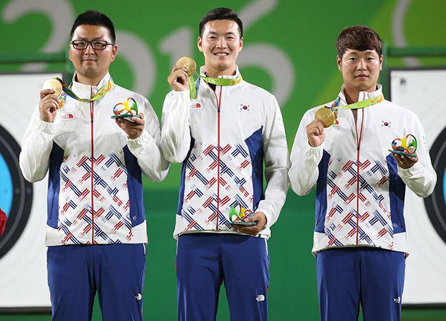(Olympics) Men's archery team wins S. Korea's first gold