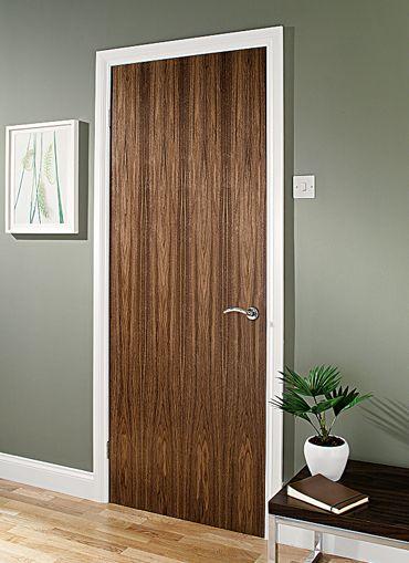 Walnut door like the no panel finish