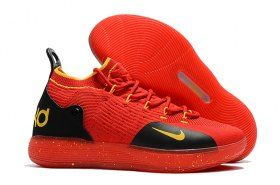 b557c3512656 Dazzling Nike Zoom KD 11 EP October Red Black Gold Men s Basketball Shoes  Kevin Durant Sneakers