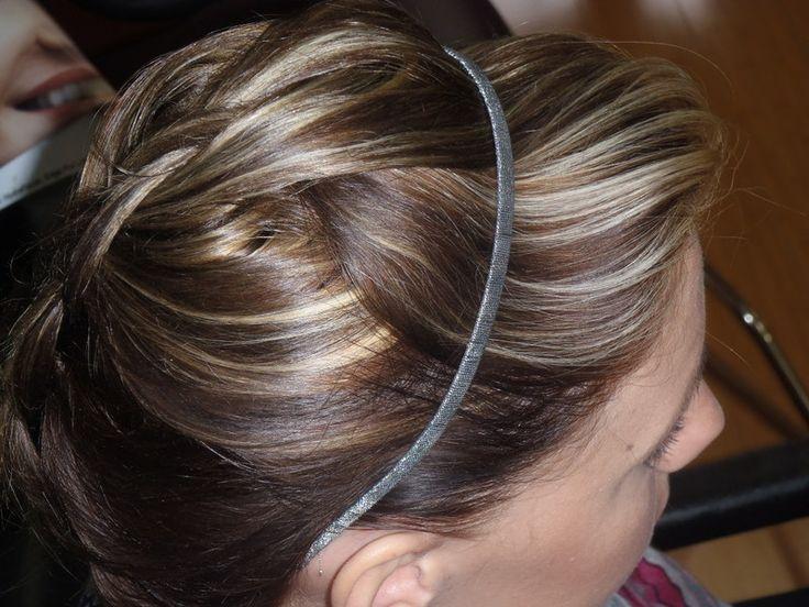 Blonde Hightlights on Dark Hair #blonde #highlights #darkbrown #braids