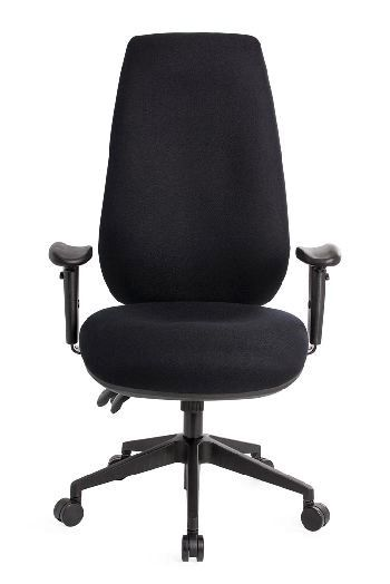 The Ergopedic Chair is a larger size chair with an extra high back for those requiring support up high or a fixed headrest #seated #backsupport #chair #design seated.com.au