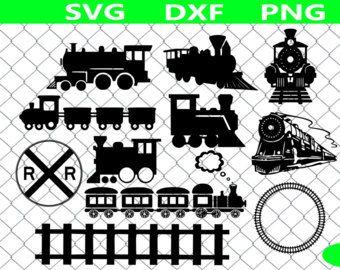 Train SVG Bundle, Train SVG , Train clipart, train track svg, svg files for silhouette, cricut, vector, dxf, cut files, cutting template