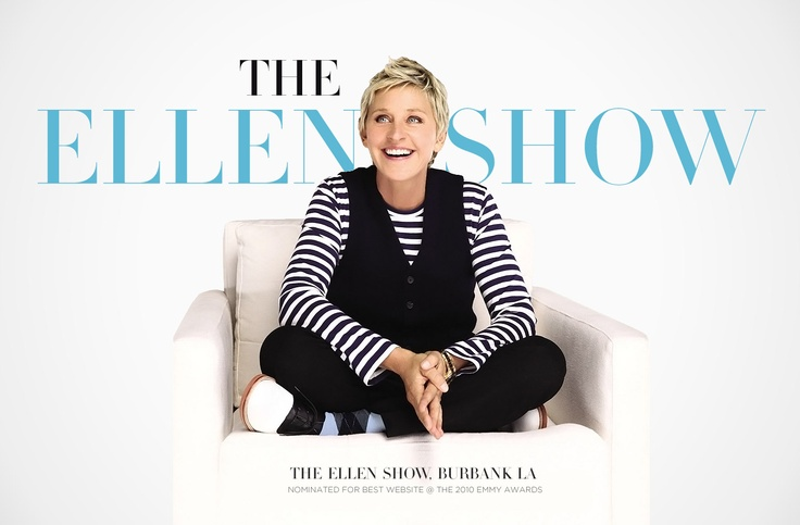 Ellen is one of my favorite talk show host because of her charismatic personality and how funny she is and make other people happy when they don't feel right.