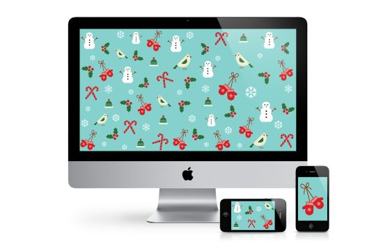 We have more festive (& free!) holiday wallpapers for all your devices on the blog! via Nicolesclasses.com