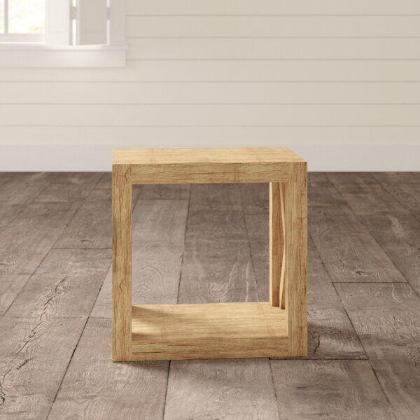 Wrightstown Solid Wood Floor Shelf End Table Solid Wood Flooring Floor Shelf End Tables