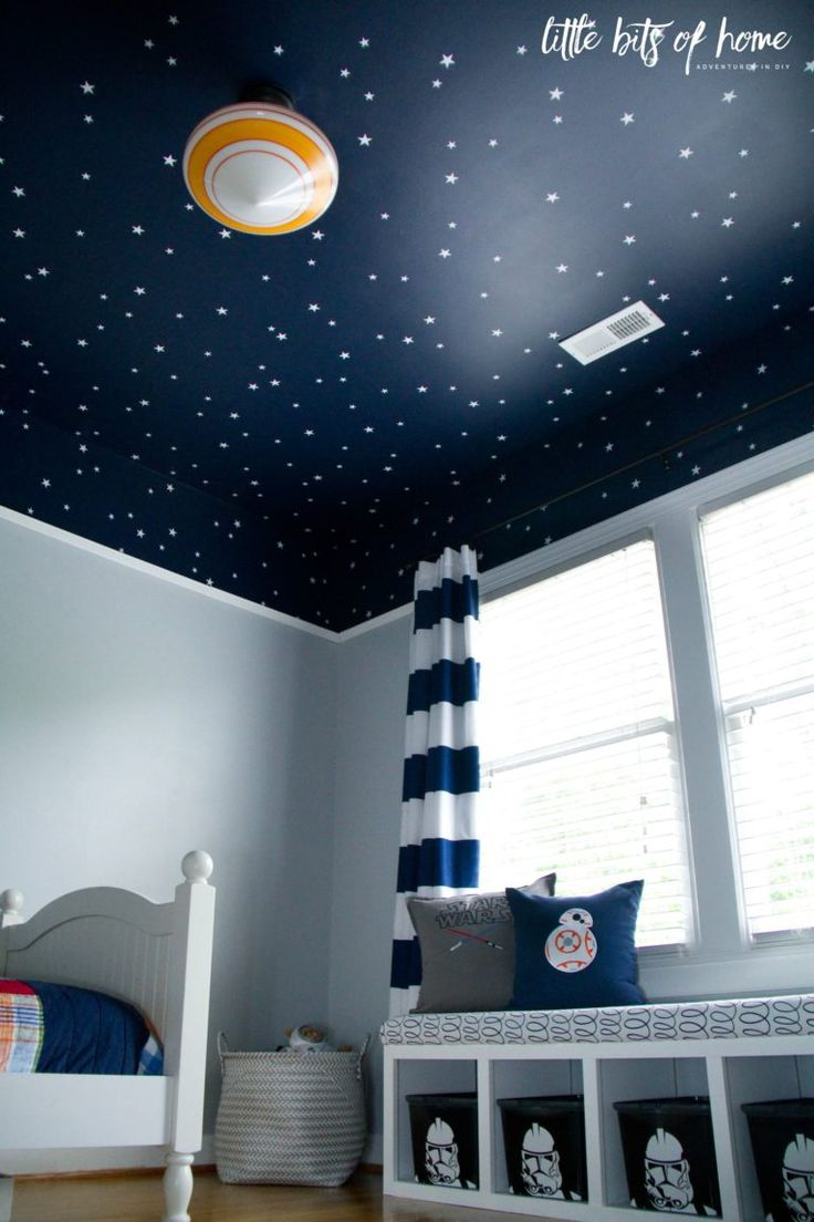 Bedrooms for toddler boys - Star Wars Kids Bedroom I Would Paint The Stars With Glow In The Dark Paint