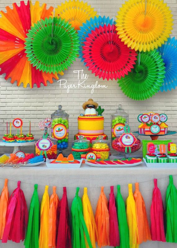 Fiesta Party Candy Jay Labels Candy Buffet by thepaperkingdom