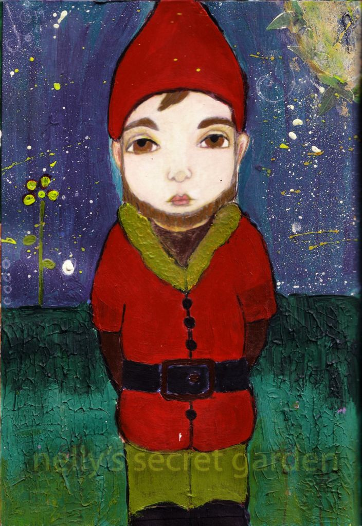 mixed media painting by Nelli Bloom