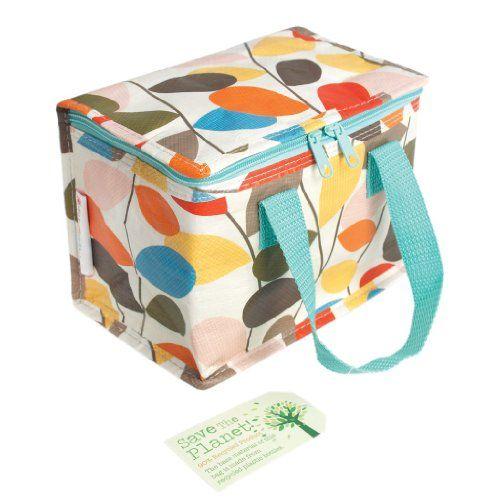 Vintage Ivy Design Recycled Foil Lined Lunch Bag £3.95       @    www.retroclock.co.uk