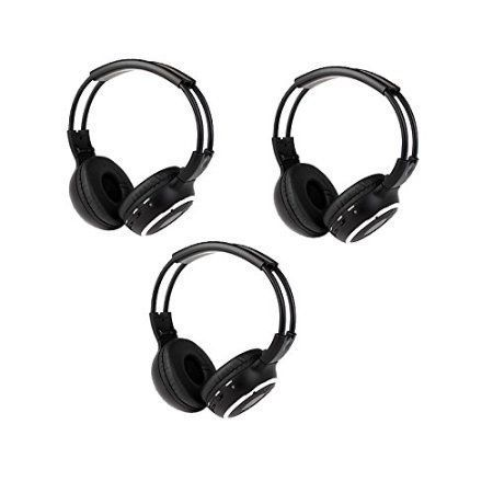Special Offers - Pupug 3 Pack of Wireless Two Channel Foldable Universal IR Infrared Headphones for In-Car TV DVD Computer Video Listening Rear Entertainment System - In stock & Free Shipping. You can save more money! Check It (April 27 2016 at 08:11PM) >> http://wheadphones.com/pupug-3-pack-of-wireless-two-channel-foldable-universal-ir-infrared-headphones-for-in-car-tv-dvd-computer-video-listening-rear-entertainment-system/