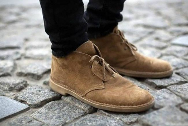 Marron 45 EU Desert Boots Homme Cola Suede Clarks