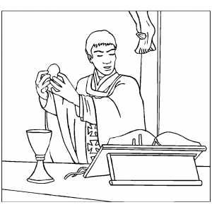 catholic mass coloring pages - photo#9
